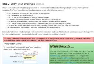 "Mail server kita ?? ""blocked barracudacentral.org"""